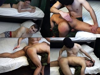 Spanking straight boy by hand