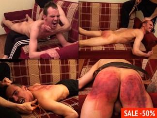 Russian male spanking video