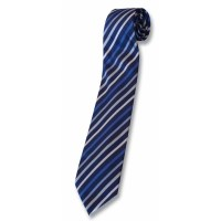 Tie Navy/silver Stripe