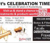 Refinement Clinic 30 years in Rustenburg poster