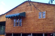 Awning for Log Cabin