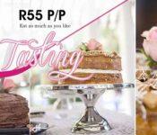 cake tasting event poster