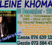 6 Dec - Gerrie Pretorius poster