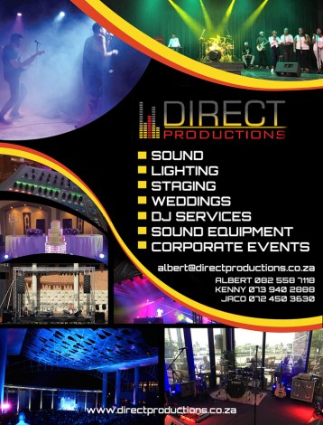 direct productions sound, lighting and staging