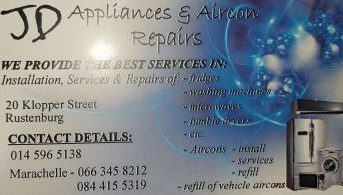 Air con and appliance repairs