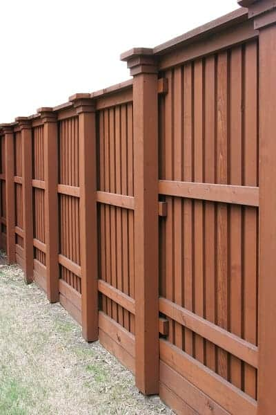 wooden fence types styles