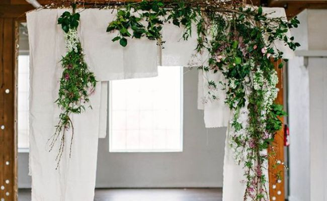 Organic Ceremony Backdrop Inspiration