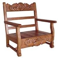 Rustic Furniture - Southwestern Rustic Carved Rope Chair