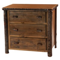 Cottage Hickory 3 drawer Dresser | Rustic Furniture Mall ...