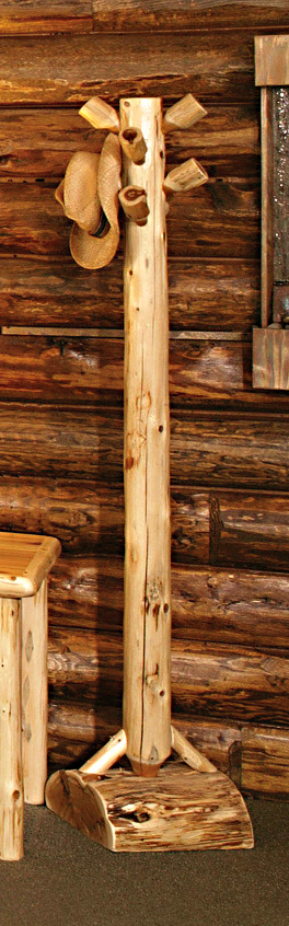 Logger Coat Tree  Rustic Furniture Mall by Timber Creek