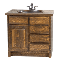 Rough Sawn Pine Vanity | Rustic Furniture Mall by Timber Creek
