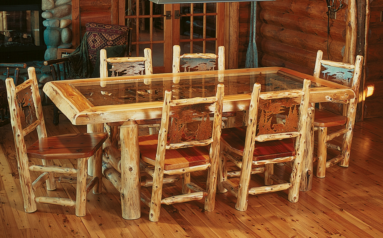 rustic kitchen tables and chairs mission style cabinets one room cabin joy studio design gallery best