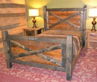 Barn Door Bed | Rustic Furniture Mall by Timber Creek