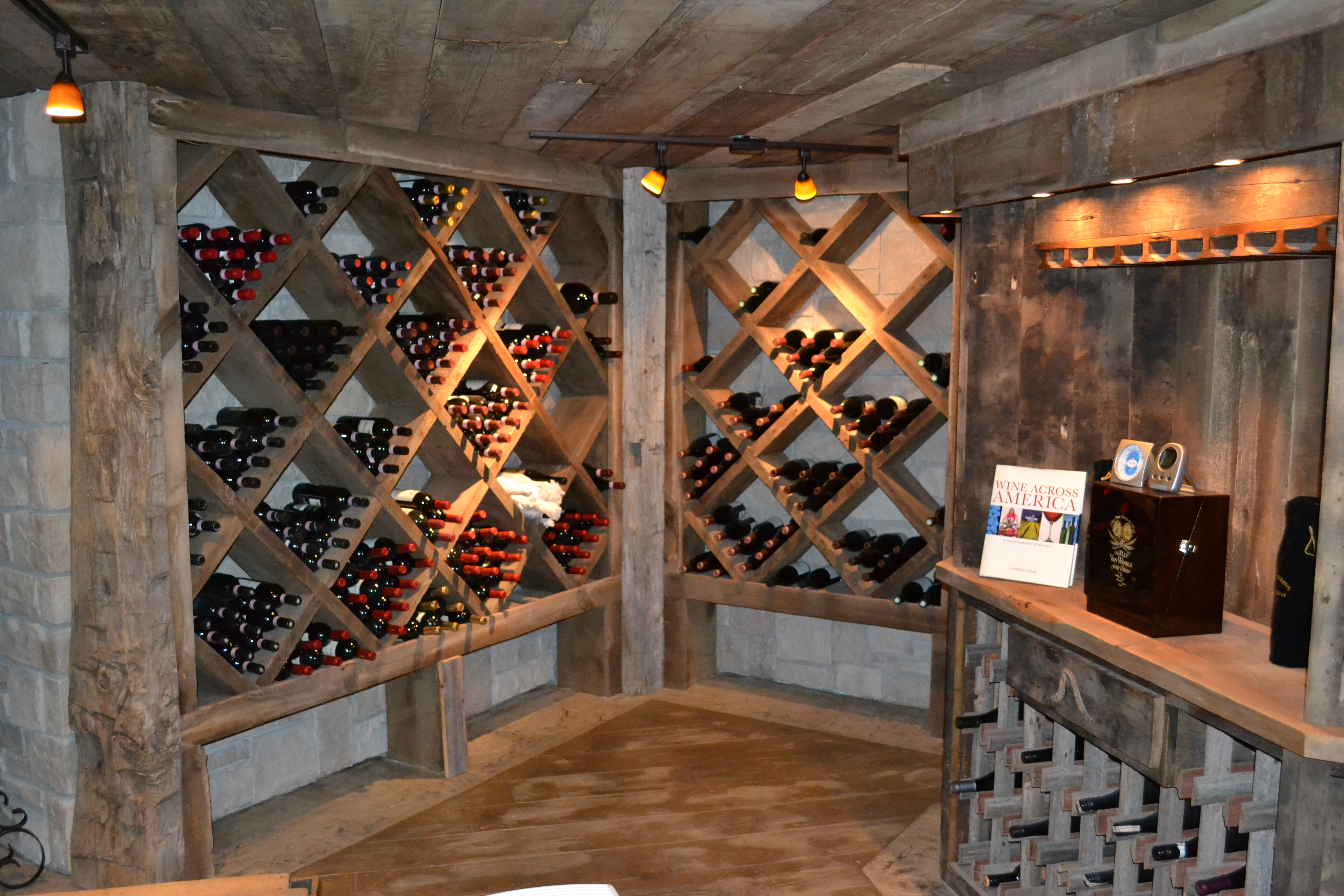Custom Reclaimed Wine Cellar Cabinets  Rustic Furniture Mall by Timber Creek