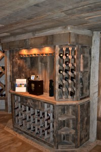 Custom Reclaimed Wine Cellar Cabinets | Rustic Furniture ...