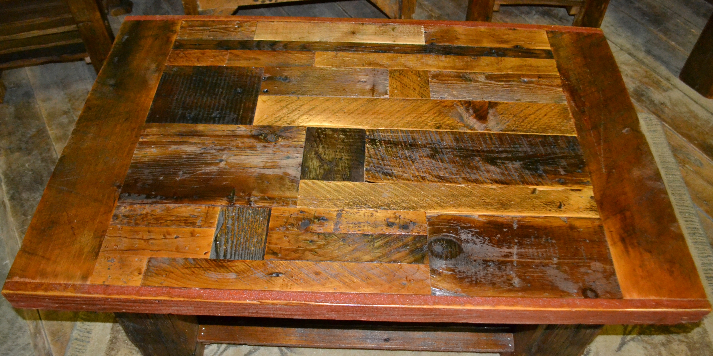 Collage Barnwood Coffee Table Rustic Furniture Mall By