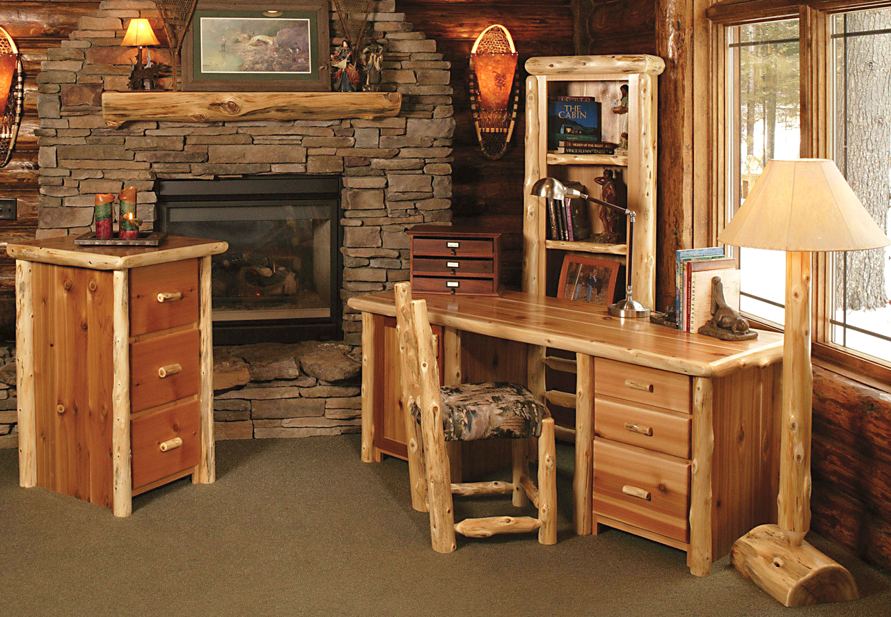 Timberland Computer Desk  Rustic Furniture Mall by Timber