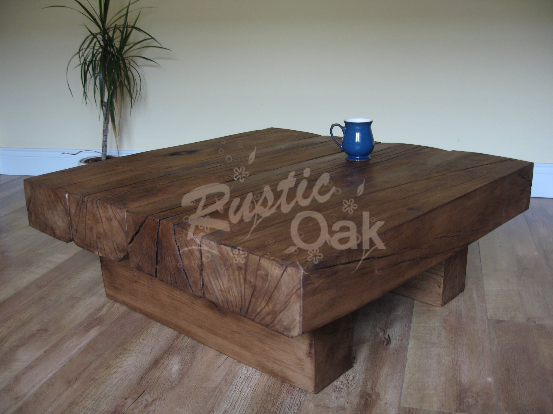 4 Beam Square Coffee Table