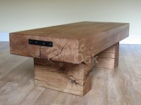 Standard 2 Beam Coffee Table - Rustic Oak