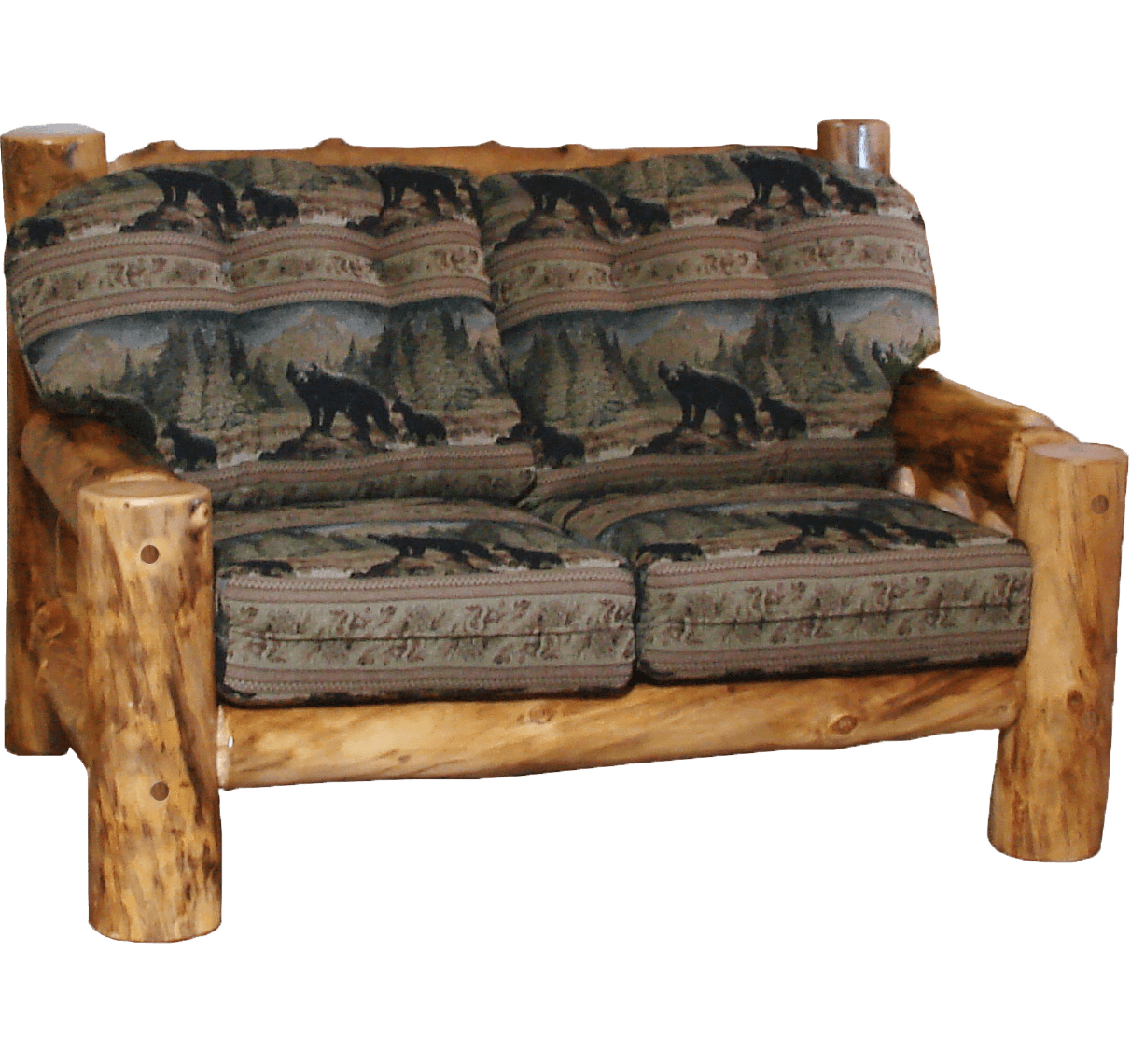 rustic cabin sleeper sofa 4ft wide bed log furniture couch camp