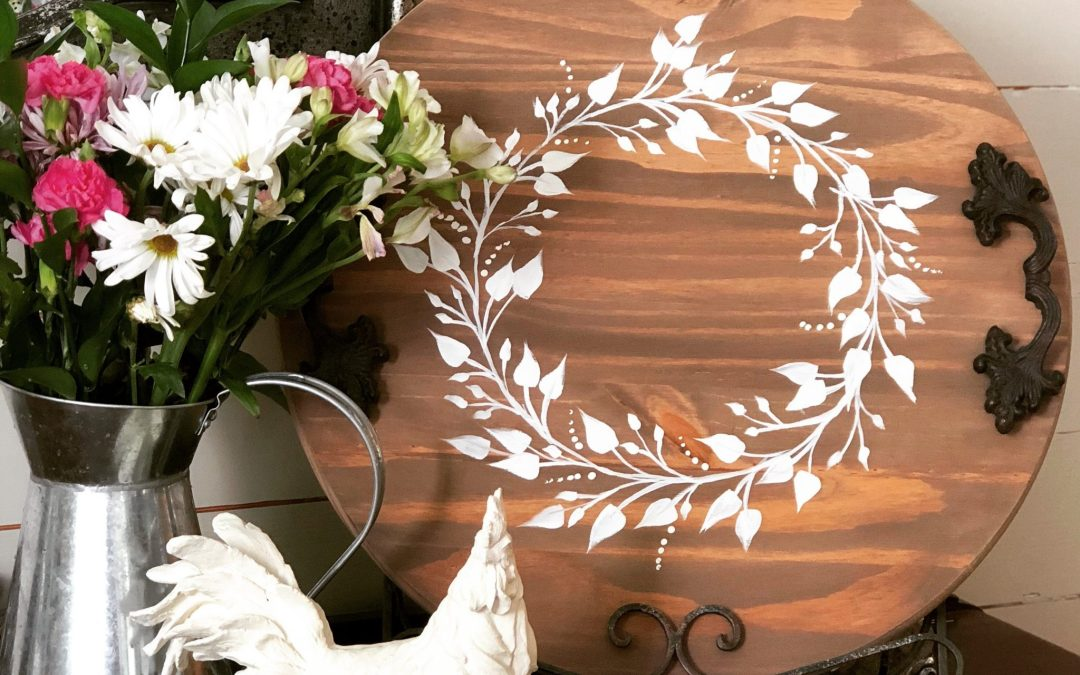 Hand Painted Wood Serving Tray DIY