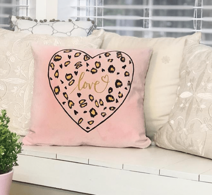 Cheetah Print Valentine's Day Pillow Craft