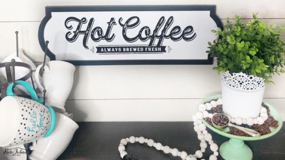 DIY Coffee Bar Sign Tutorial