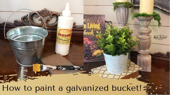 Learn how to paint a galvanized bucket and create your own DIY farmhouse home decor! #rusticorchardhome #howtopaintabucket #dixiebellechalkpaint #diyhomedecor #diyfarmhousedecor