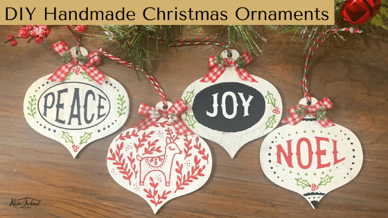 Let's create some super simple DIY Handmade Christmas Ornaments! #rusticorchardhome #christmasdiy #christmascraft #farmhousechristmas #chalkcouture