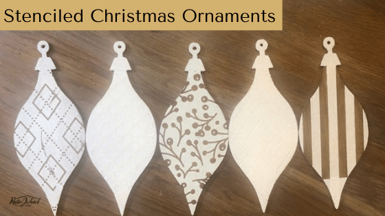 Stenciled Christmas Ornaments Tutorial