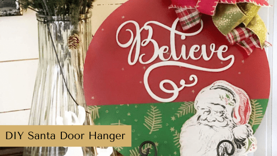 Make your own DIY Santa Door Hanger using the Chalk Couture holiday suite.