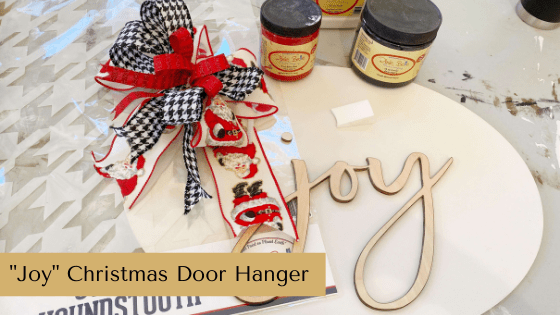 """Joy"" Christmas Door Hanger"