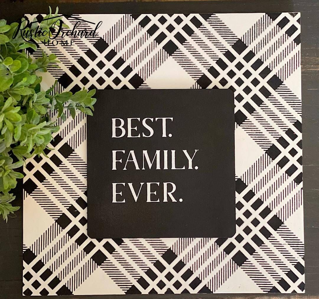 Let's create adorable black and white farmhouse décor with the Farm Charm Collection of transfers from Chalk Couture!