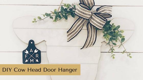 DIY Cow Head Door Hanger