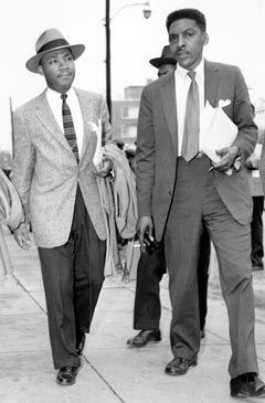 Bayard Rustin with Martin Luther King, Jr. in 1956