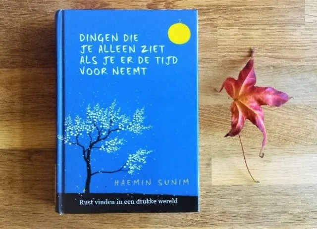 Boek: Dingen die je alleen ziet als je er de tijd voor neemt van Haemin Sunim