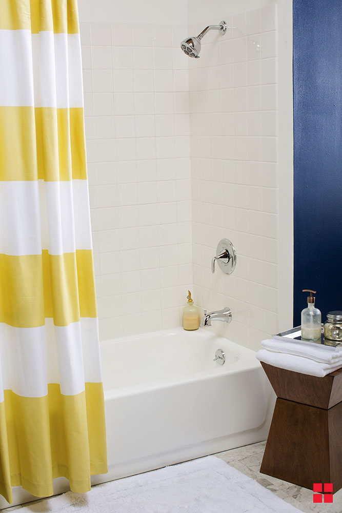 update your bathroom tub tile on a budget