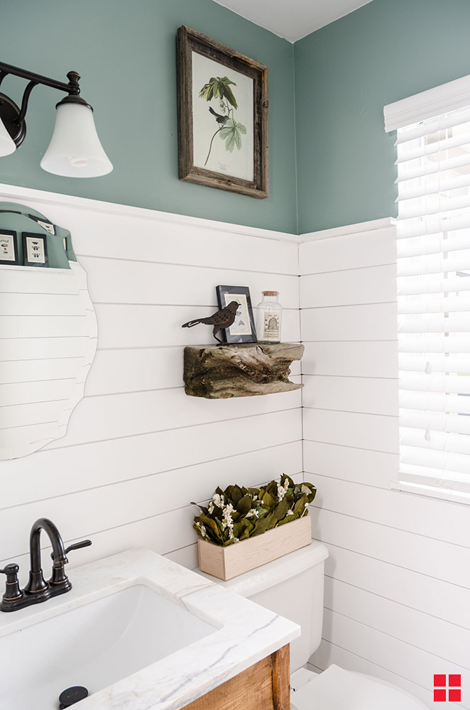 Brighten and Protect Shiplap with Zinsser Perma White
