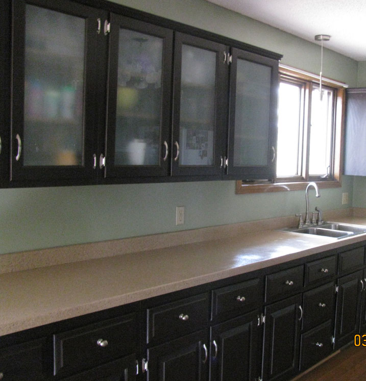 gray cabinets kitchen hutch ideas cabinet transformations submitted by cara p