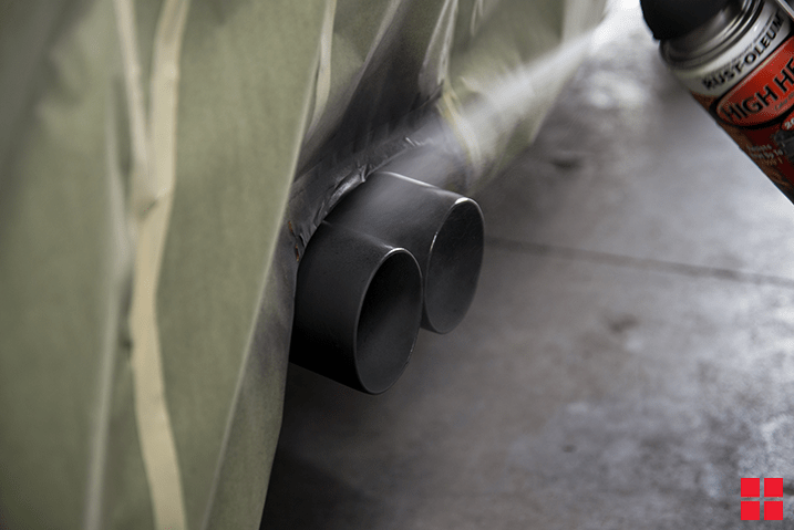 How to Paint Your Exhaust Pipe with High Heat Spray Paint
