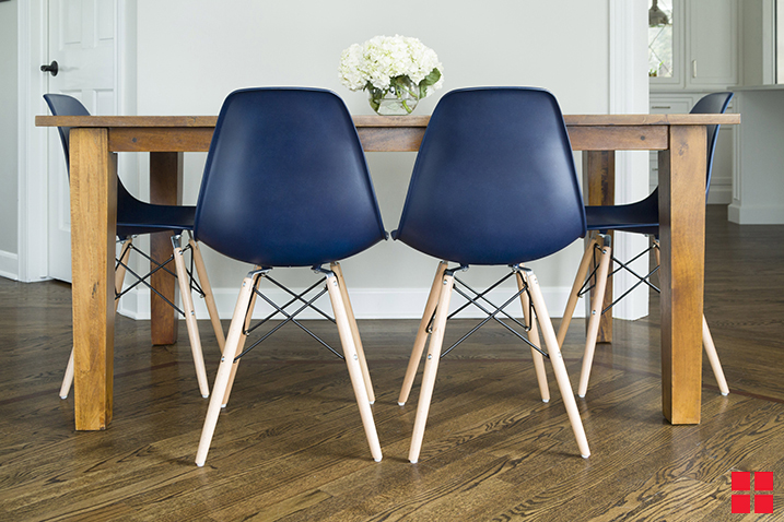blue kitchen chairs liquid dispenser makeover your with new stops rust satin classic navy project