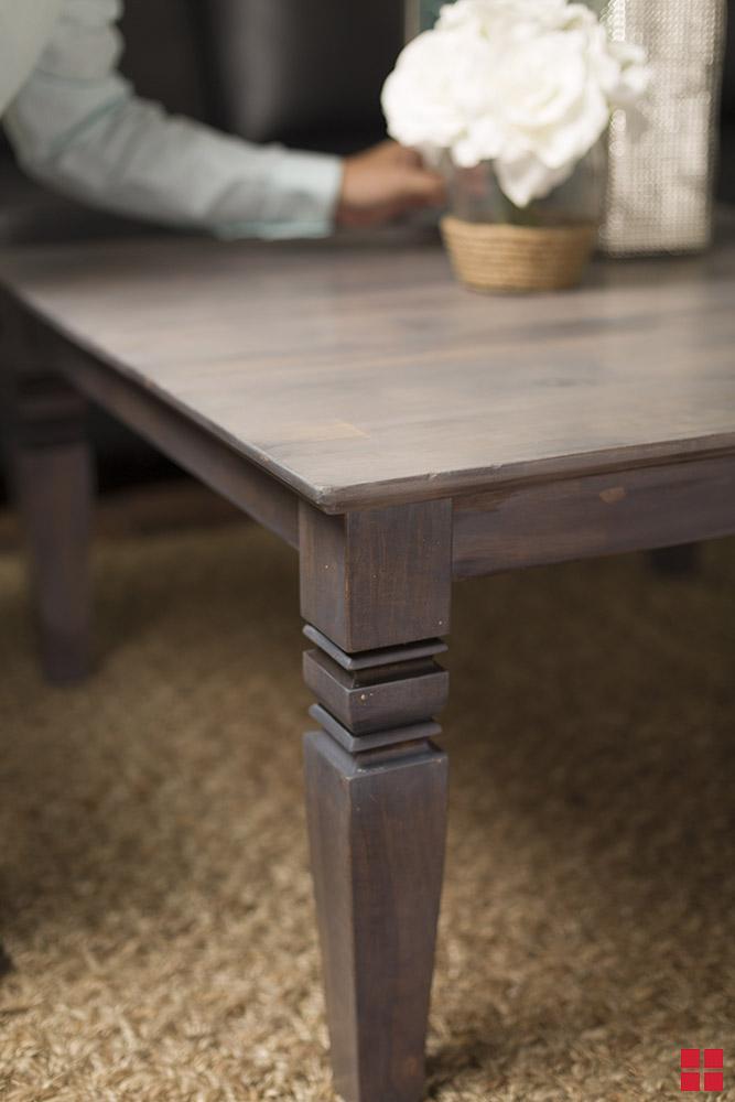 DIY Varathane Weathered Wood Living Room Coffee Table