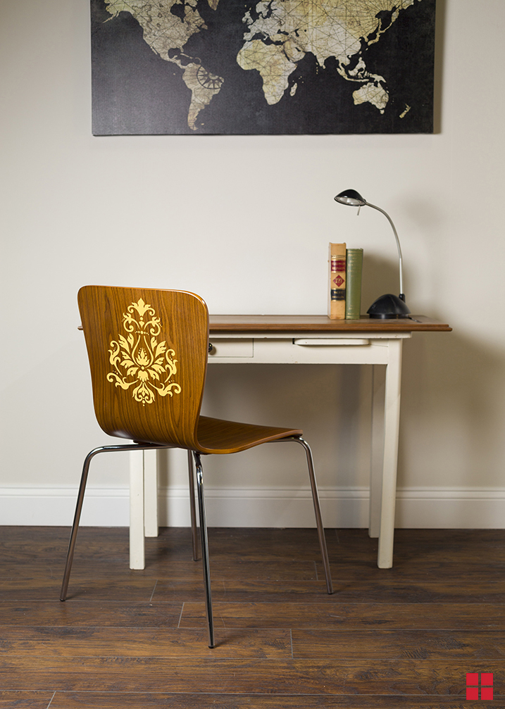 DIY Stenciled Chair  How to Stencil Furniture