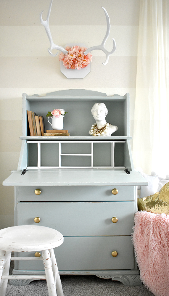 Upcycle an old desk with Chalked Paint