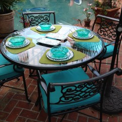 Turquoise Patio Chairs Tables And For Restaurants Outdoor Furniture Transformation