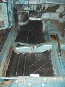 New LH floor pan installed