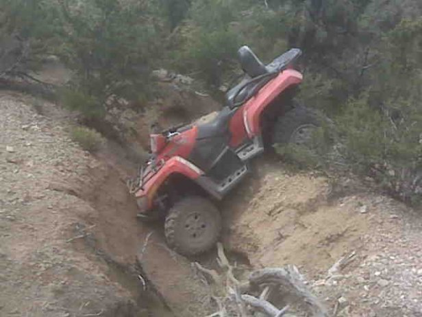 quad rolled over on mt. charleston