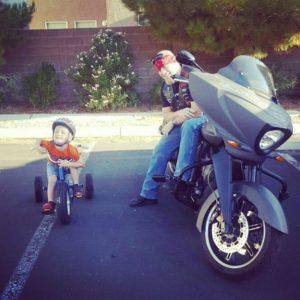 rusty superman bentley and victory motorcycle