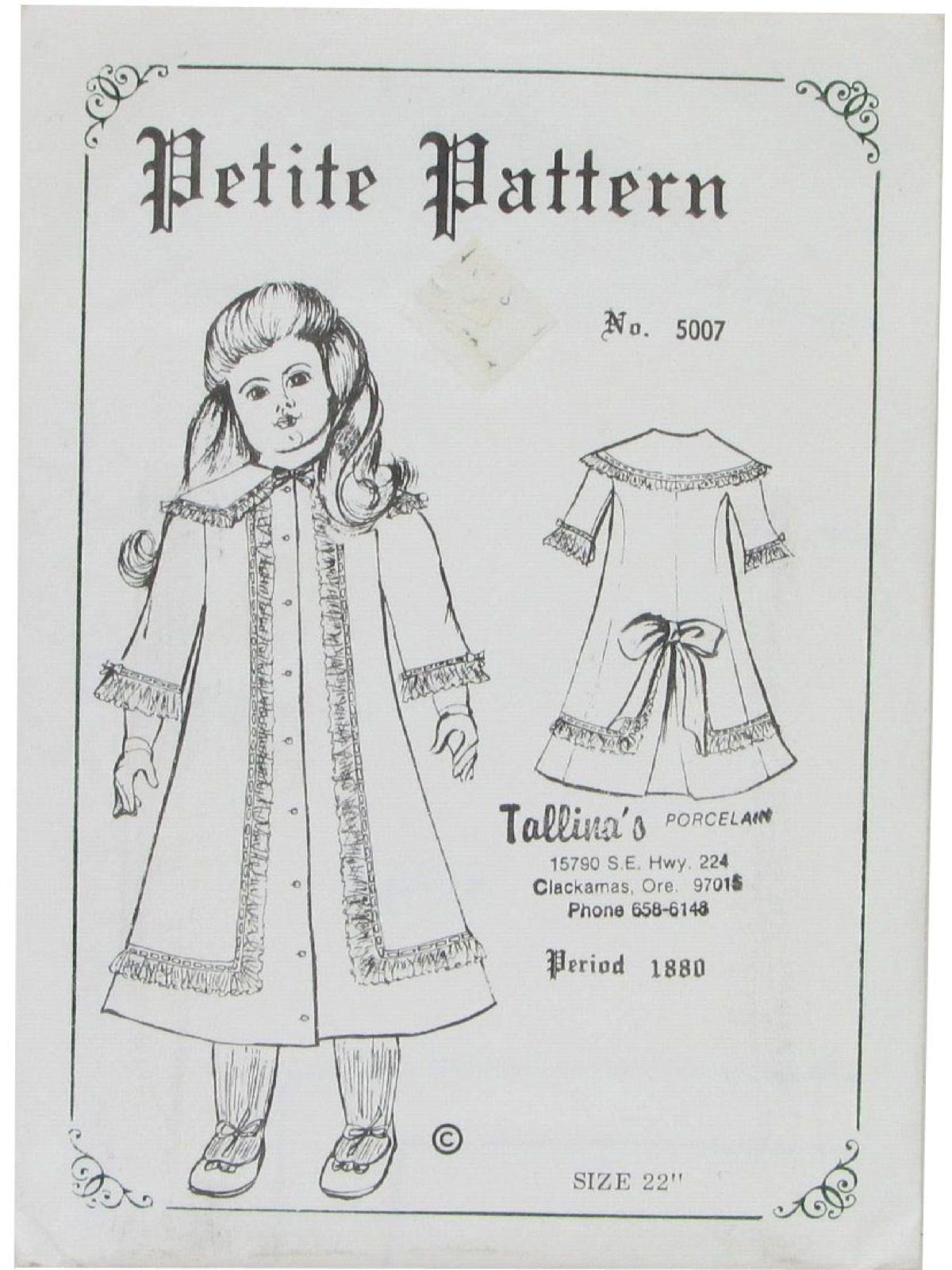 1980's Vintage Petite Pattern No. 5007 Sewing Pattern: 80s