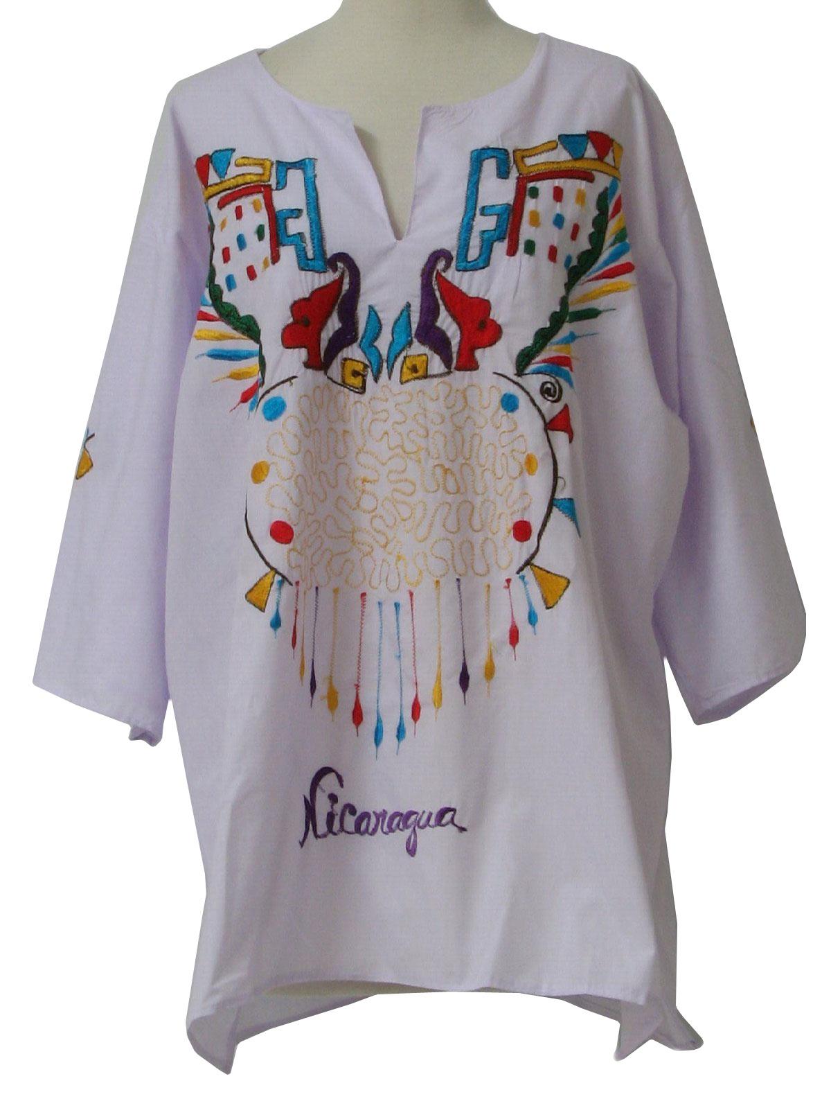 1980s Retro Hippie Shirt 80s Made in Nicaragua Unisex